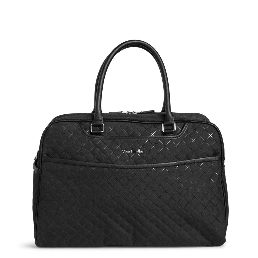 Vera Bradley Iconic Weekender Travel Bag, Microfiber, Classic Black