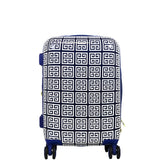 Macbeth Collection Women's Geo 21 inch Spinner Luggage, Blue