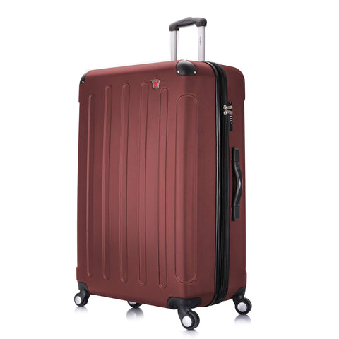 DUKAP Luggage - Intely Collection - Hardside Spinner 28'' inches with Integrated Weight Scale (Wine) - Suitcases with Wheels