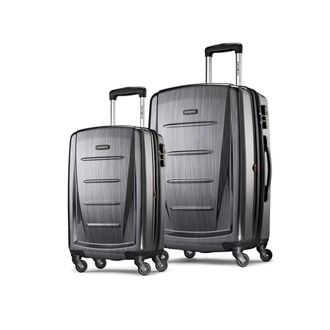 Samsonite Winfield 2 Expandable Hardside 2-Piece Luggage Set (20/28) with Spinner Wheels, Charcoal