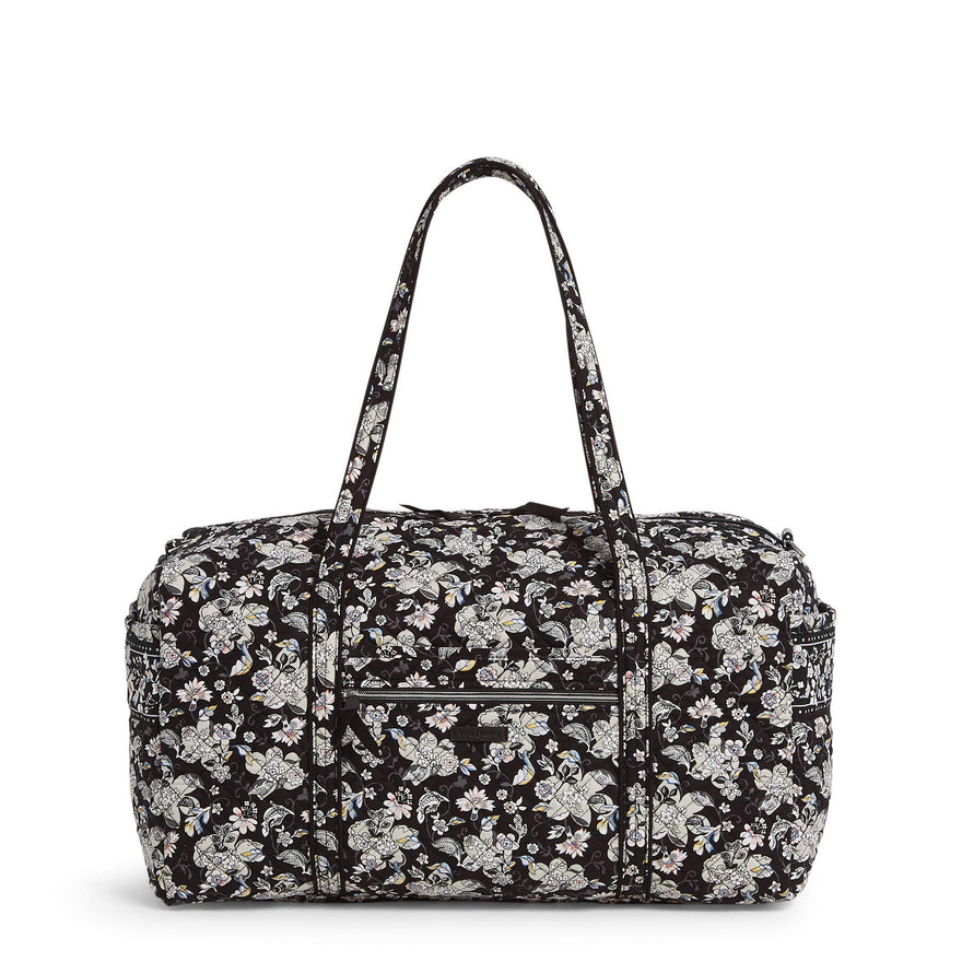 Vera Bradley Women's Signature Cotton Large Travel Duffel Travel Bag, Holland Garden, One Size