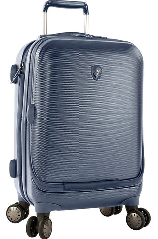 "Heys America Portal SmartLuggage 21"" Carry-On Spinner Luggage (One Size, Slate Blue)"