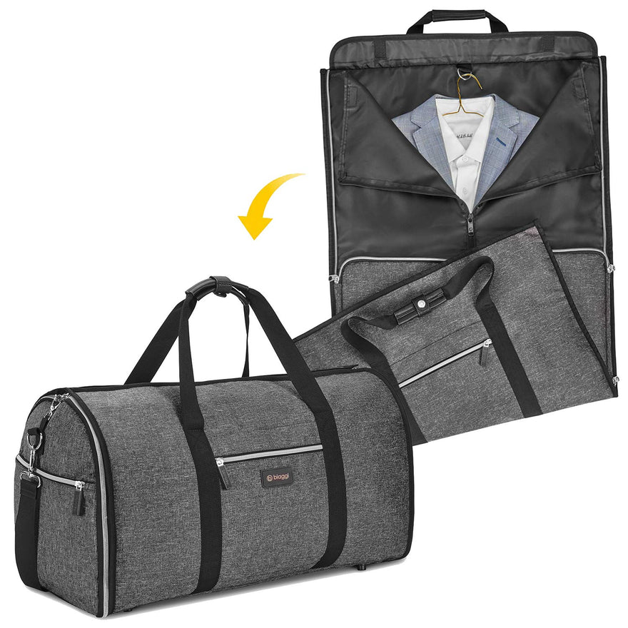 Biaggi Luggage Hangeroo Pro, Garment Bag + Duffel, Charcoal