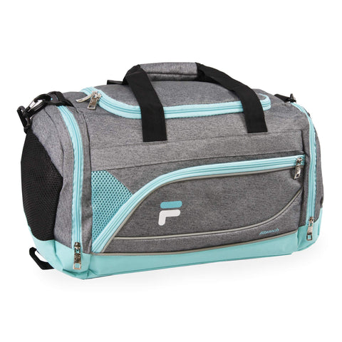 Fila Duffle Duffel, Heather Grey Mint, Small