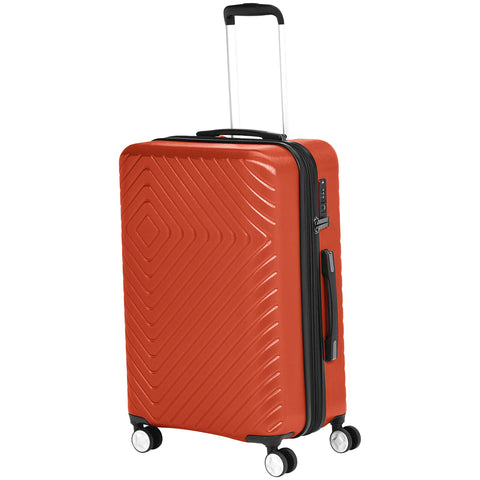 AmazonBasics 3 Piece Geometric Hard Shell Expandable Luggage Spinner Suitcase Set - Sunset