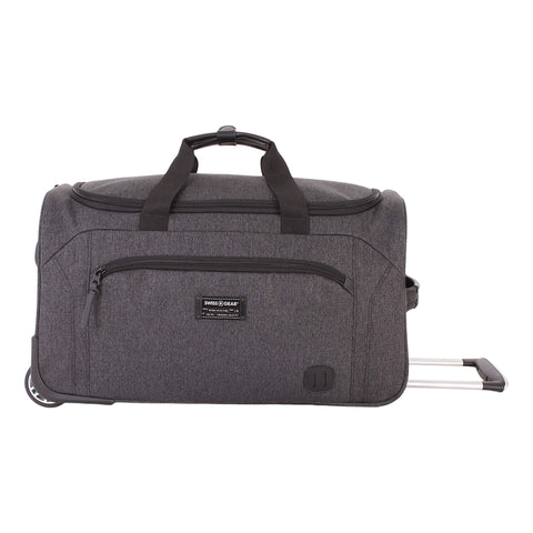 "SWISSGEAR 7368 Travel Duffel, Heather Grey (19"" Rolling)"