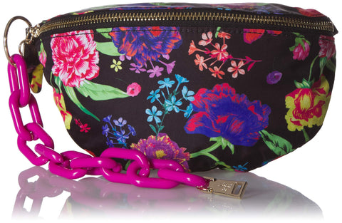 Betsey Johnson Nylon Bum Bag, Black Floral