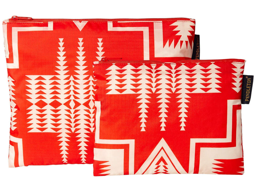 Pendleton Women's 2-Pack Zip Pouch Harding Red One Size