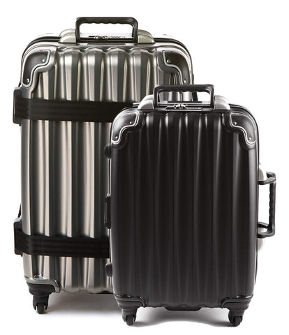 Bundle - 2 items: VinGardeValise Wine Travel Suitcase 12 & 5-bottle - Grande 05, Silver and Piccolo 01, Black