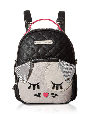 Betsey Johnson Women's Diamond Quilt Kitch Backpack Black/Multi One Size