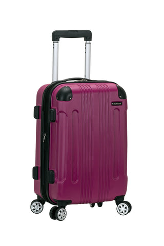 "Rockland 20"" Expandable Carry On, Spinner Luggage, Magenta"
