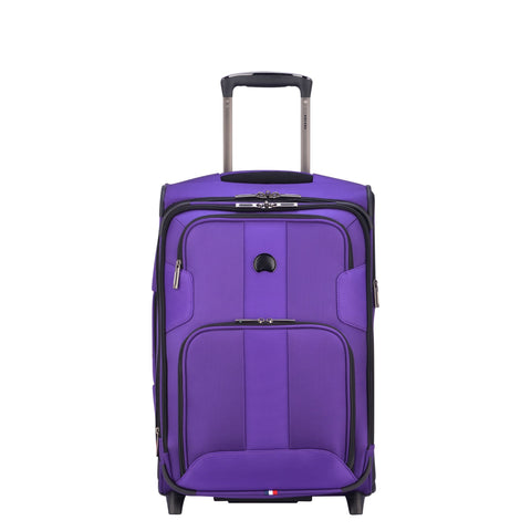 Delsey Paris Luggage Sky Max Carry On Expandable 2 Wheeled Suitcase, Purple