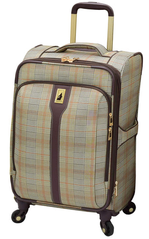 "London Fog Knightsbridge Hl 21"" Expandable Spinner, Brown Glen Plaid"