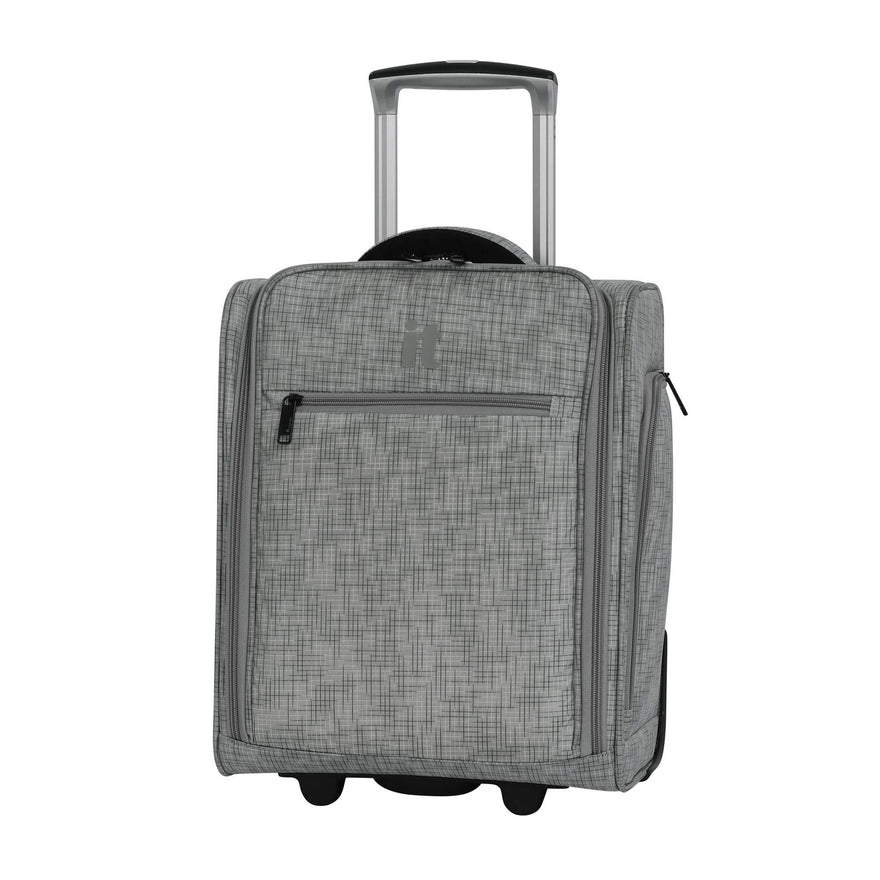 "it luggage 17.1"" Stitched Squares 2 Wheel Underseat Tote, Flint Grey"