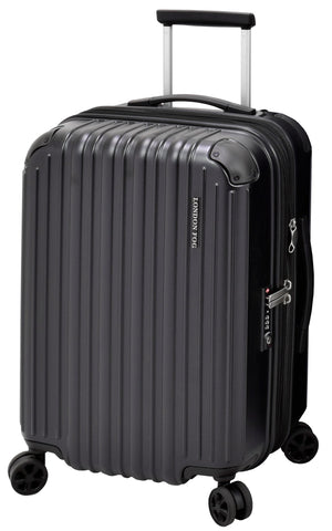 "London Fog Heathrow 21"" Expandable Spinner Carry-on, Black"