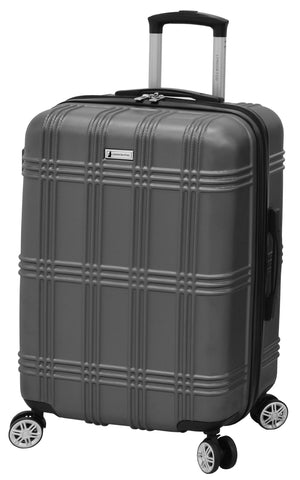 "London Fog Kingsbury 25"" Expandable Hardside Spinner, Titanium"