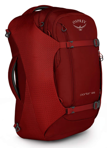 Osprey Packs Packs Porter 65 Travel Backpack, Diablo Red, One Size, Diablo Red, One Size