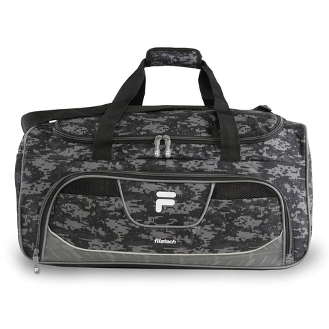 Fila Speedlight Medium Duffel Gym Sports Bag, Grey Digi Camo, One Size