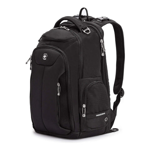 SWISSGEAR Large ScanSmart Laptop Backpack | TSA-Friendly Carry-on | Travel, Work, School | Men's and Women's - Black