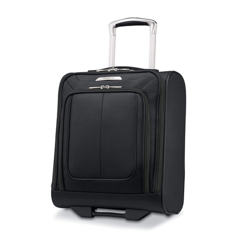Samsonite SoLyte DLX Softside Luggage, Midnight Black, Underseat