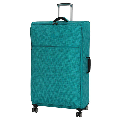 "it luggage 34.4"" Stitched Squares Lightweight Case, Aqua Blue"