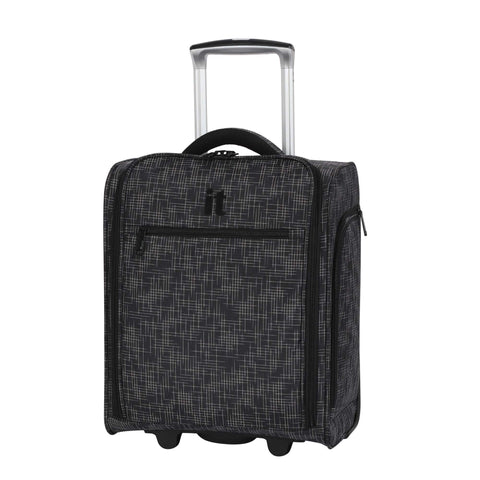 "it luggage 17.1"" Stitched Squares 2 Wheel Underseat Tote, Black"