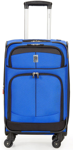 Delsey Luggage Agility Softside 21 Inch Carry On Expandable Spinner (Blue)