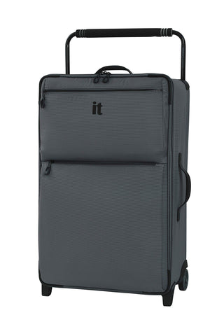 "IT Luggage 29.6"" World's Lightest Los Angeles 2 Wheel, Charcoal Grey"