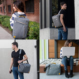 Grey Convertible Laptop Bag for 14 15.6 inch Dell Latitude, Inspiron, Chromebook, Precision, Vostro, G3 G5 G7 m15 R2