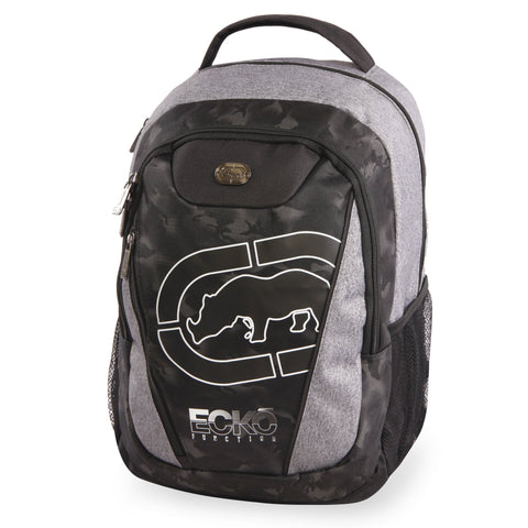 Ecko Unltd. Boys' Block Laptop & Tablet Backpack-School Bag Fits Up to 15 Inch Laptop, Heather/Black, One Size