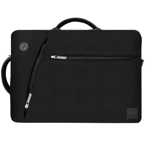 Vangoddy Slate Hybrid Briefcase Backpack Messenger Bag for Acer Laptop Up to 15.6 (Black)