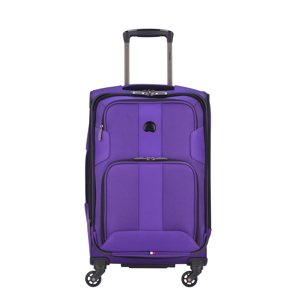 Delsey Paris Luggage Sky Max Carry On Expandable Spinner Suitcase, Purple