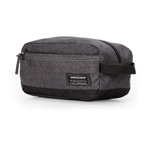 SWISSGEAR Medium Dopp Kit | Bathroom, Gym, Travel | Men's and Women's - Heather Gray