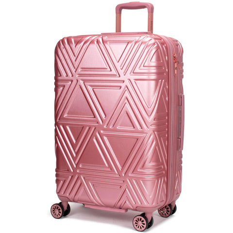 "Badgley Mischka Contour Hard Expandable Spinner Suitcase (Rose Gold, 25"")"