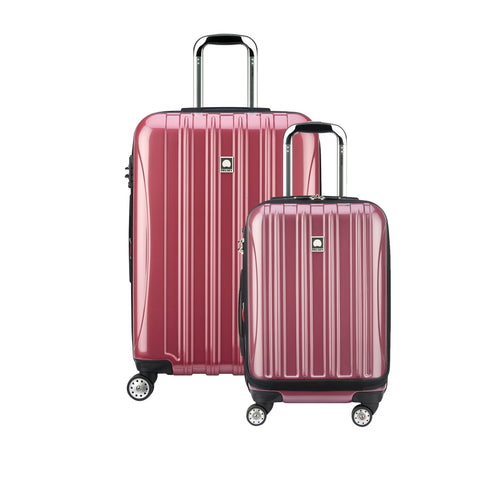 "Delsey Luggage Helium Aero Spinner Luggage Set (19""/25""), Peony"