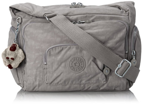 Kipling Women's Erica Solid Crossbody Bag, slate grey t, One Size