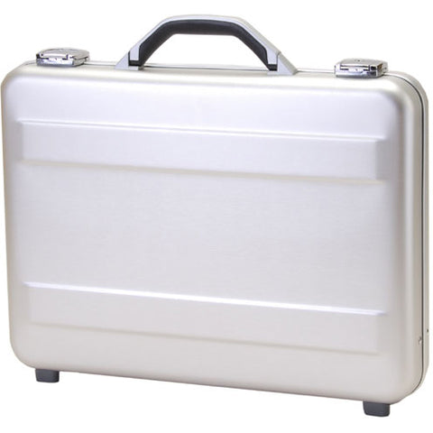 TZ Case  Molded Anodized Aluminum Briefcase AC-66 Silver