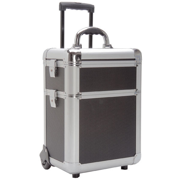 T.Z. Case Beauty Cases Mini-Pro 3 Section Wheeled Make Up Case