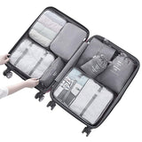 8PCS Luggage Packing Organizers Travel Accessories Package Bags Outdoor Supplies Shoes Clothes