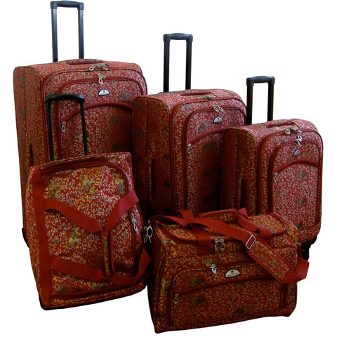 American Flyer Budapest 5pc Spinner Luggage Set