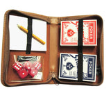 Royce Leather Zippered Poker Playing Card Case