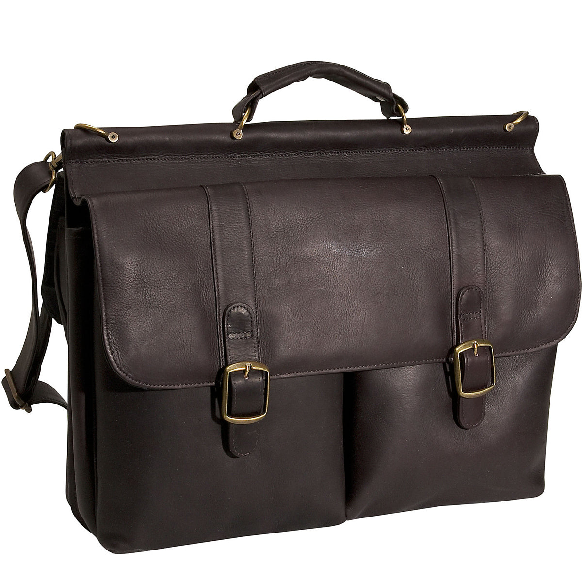 David King Dowel Laptop Leather Briefcase