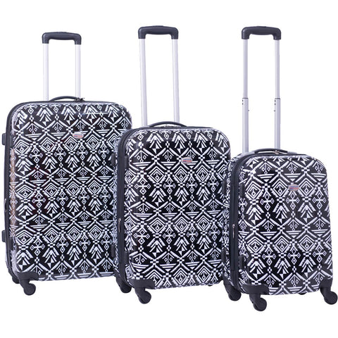 American Flyer Aztec 3pc Hardside Spinner Set