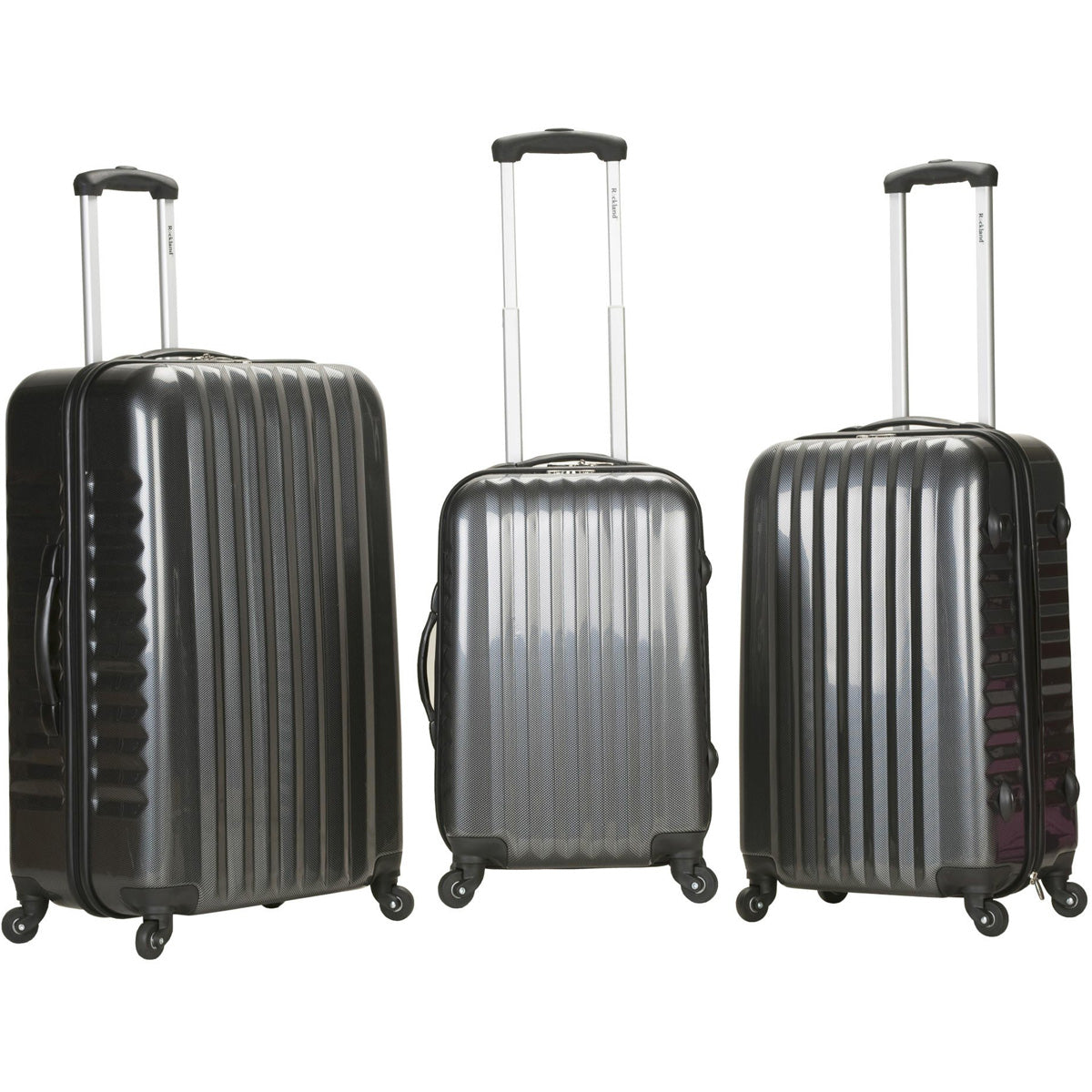 Rockland Luggage London ABS 3 Piece Hardside Spinner Luggage Set