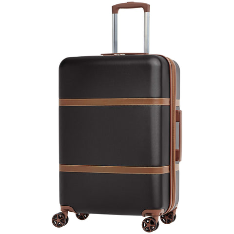 AmazonBasics Vienna Expandable Luggage Spinner Suitcase - 24 Inch, Black