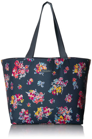 Vera Bradley Lighten Up Drawstring Family Tote, Tossed Posies