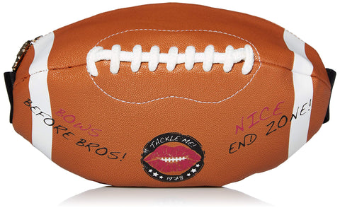 Betsey Johnson Football Fanny Pack, Brown