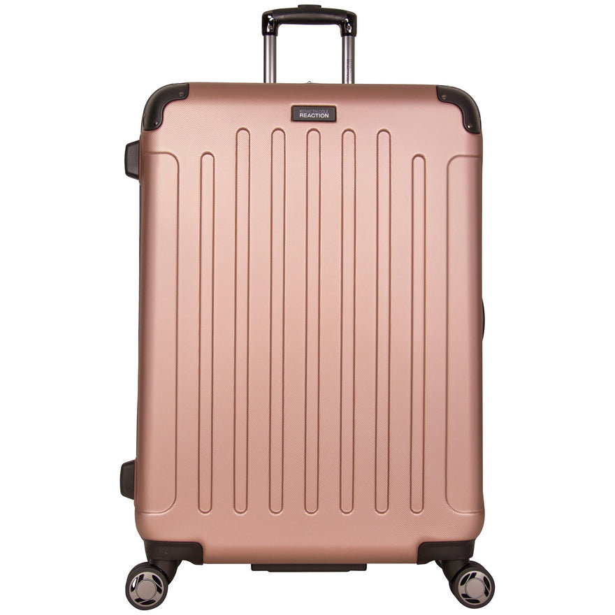 "Kenneth Cole Reaction Renegade 28"" Hardside Expandable 8-Wheel Spinner Checked Luggage, Rose Gold"