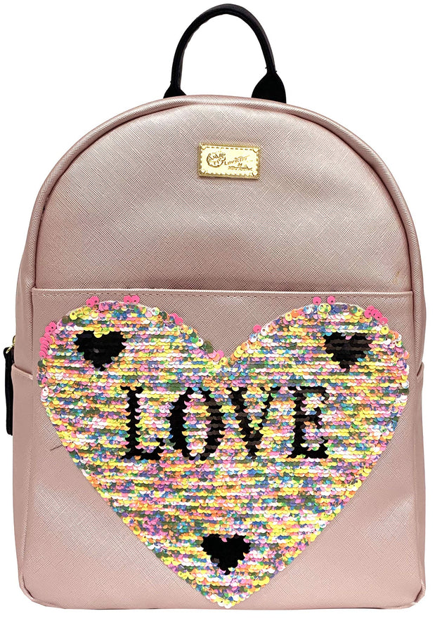 Betsey Johnson LBDEBBIE Love at First Sight Backpack in Rose, Black