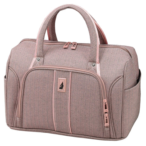 "London Fog Newcastle 17"" Cabin Bag, Rose Charcoal"